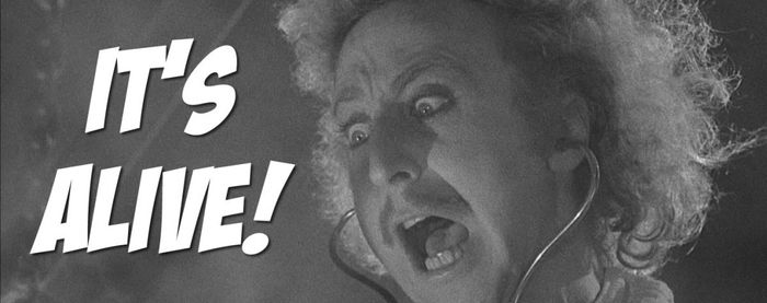 "Gene Wilder s'écrit ""It's alive"" dans Young Frankestein"