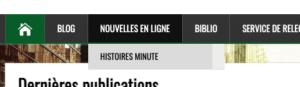 Quoi de neuf ? Un menu dédié pour accéder aux Histoires minutes !
